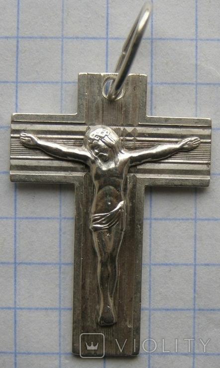 Крестик. Серебро. Вес - 4,38 г., фото №3