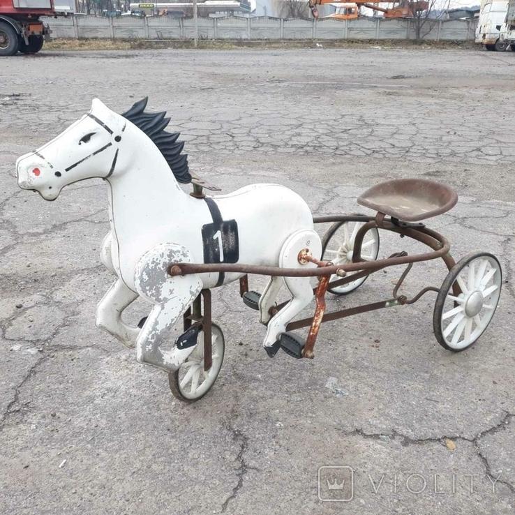 Конь педальный, фото №2
