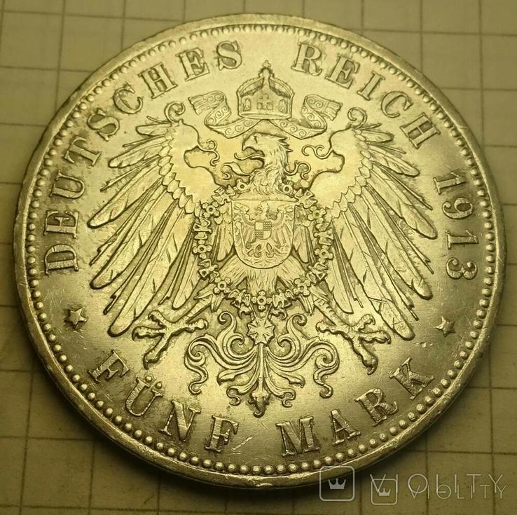 5 марок, Пруссия, 1913 год., фото №5