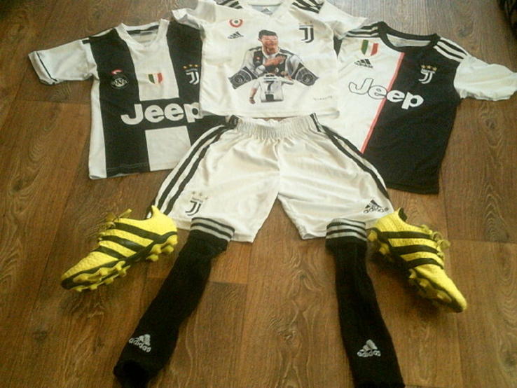 Ювентус Криштиану Роналду 7 - комплект футбольный детский, фото №3