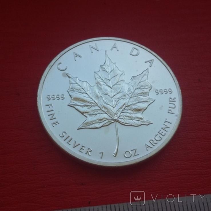 5 $ 2007 Канада унция 999,9 пробы, фото №7