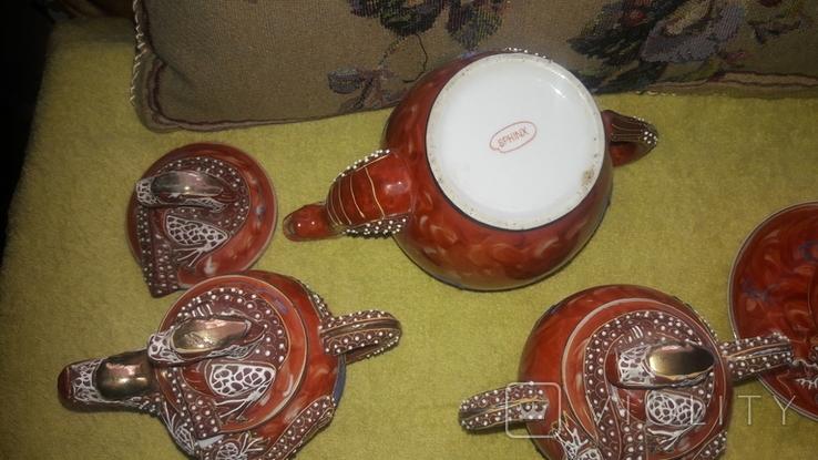 Китайский сервиз ручной работы. Клеймо SPHINX, фото №6