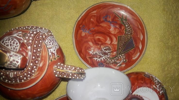Китайский сервиз ручной работы. Клеймо SPHINX, фото №8