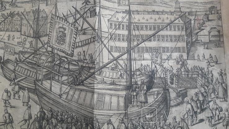"""Гравюра """"Отступление Ерцгерцога Матиаса из Нидерландов 1581 г."""" G. Baudartius 1616 г., фото №8"""
