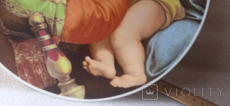 "Настенная тарелка ""Мадонна с детьми""/ 26см/ Бавария/ 1969-1993гг, фото №9"
