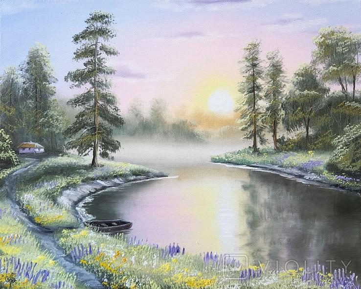 Картина, Симфонія літнього вечора, 50х40 см. Живопис на полотні, фото №2