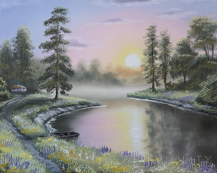 Картина, Симфонія літнього вечора, 50х40 см. Живопис на полотні, фото №4