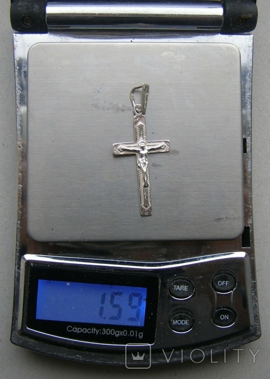 Крестик. Серебро 925 пр. Вес - 1,59 г., фото №2