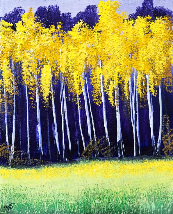 Картина, Осінні контрасти, 25х30 см. Живопис на полотні, фото №2