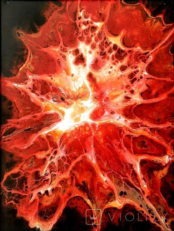 Картина/ живопис/ абстракція Fluid Art #6 acrylic, фото №7
