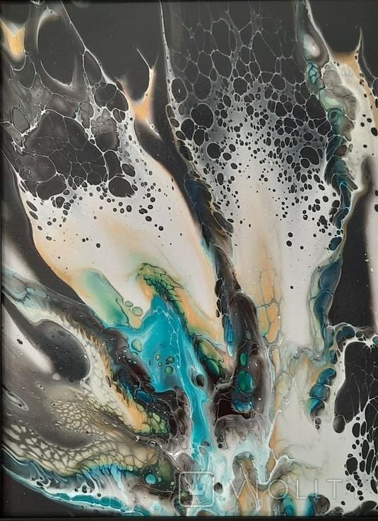 Картина/ живопис/ абстракція Fluid Art #7 acrylic, фото №3