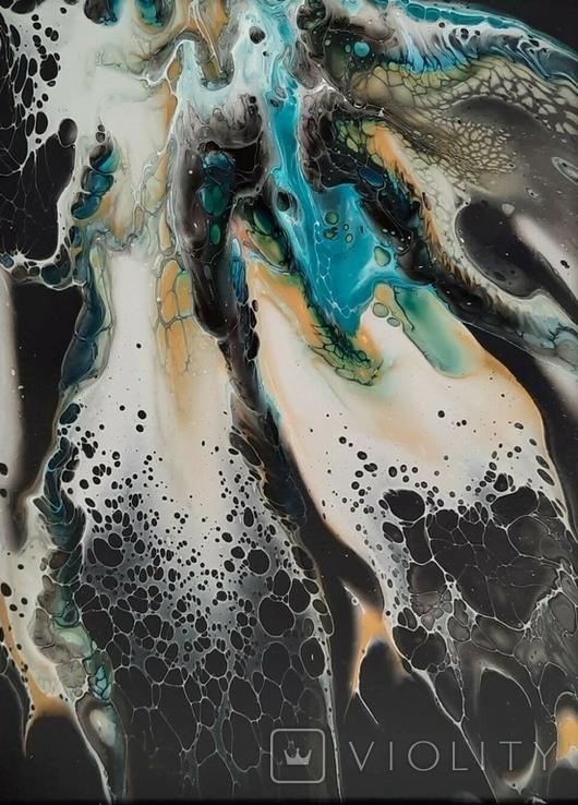 Картина/ живопис/ абстракція Fluid Art #7 acrylic, фото №10