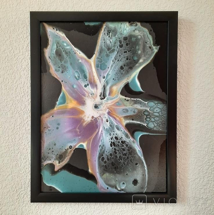 Картина/ живопис/ абстракція Fluid Art #8 acrylic, фото №7