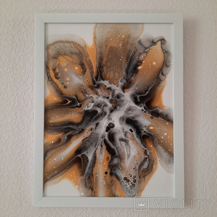 Картина/ живопис/ абстракція Fluid Art #9 acrylic, фото №3