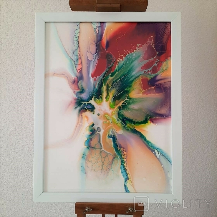 Картина/ живопис/ абстракція Fluid Art #10 acrylic, фото №2