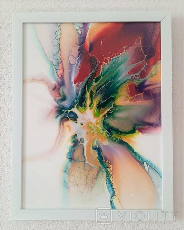 Картина/ живопис/ абстракція Fluid Art #10 acrylic, фото №3