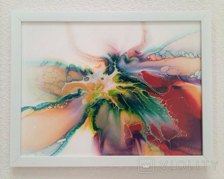 Картина/ живопис/ абстракція Fluid Art #10 acrylic, фото №6