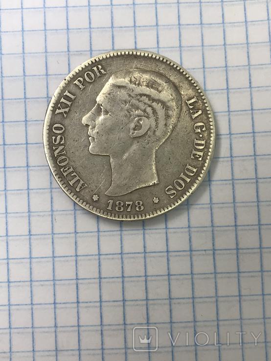 5 Песет Испания 178 год, фото №2