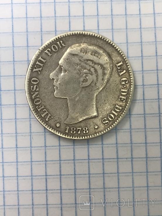 5 Песет Испания 178 год, фото №3