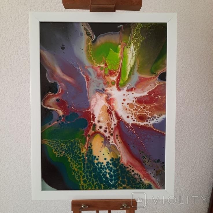 Картина/ живопис/ абстракція Fluid Art #11 acrylic, фото №2