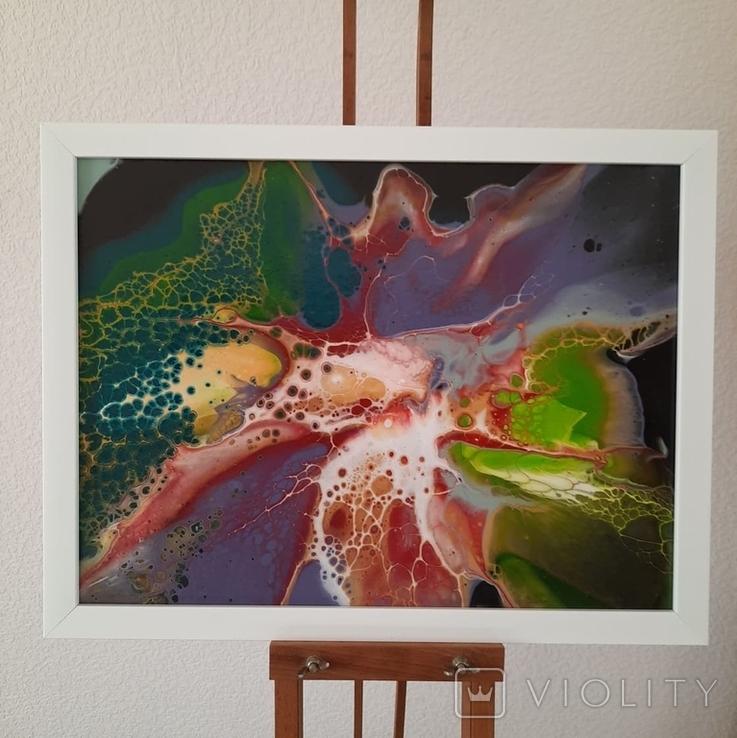 Картина/ живопис/ абстракція Fluid Art #11 acrylic, фото №3