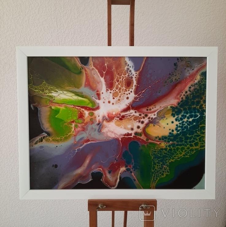 Картина/ живопис/ абстракція Fluid Art #11 acrylic, фото №5