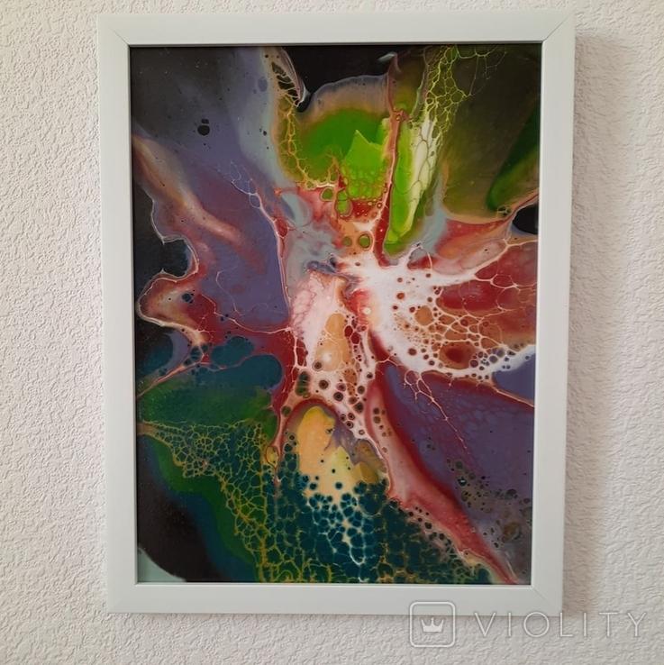 Картина/ живопис/ абстракція Fluid Art #11 acrylic, фото №12