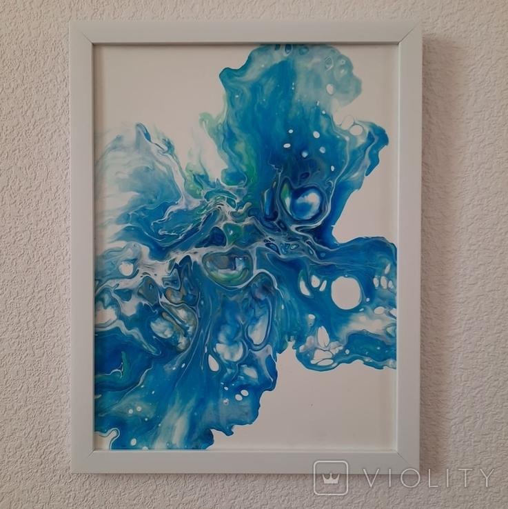 Картина/ живопис/ абстракція Fluid Art #12 acrylic, фото №3