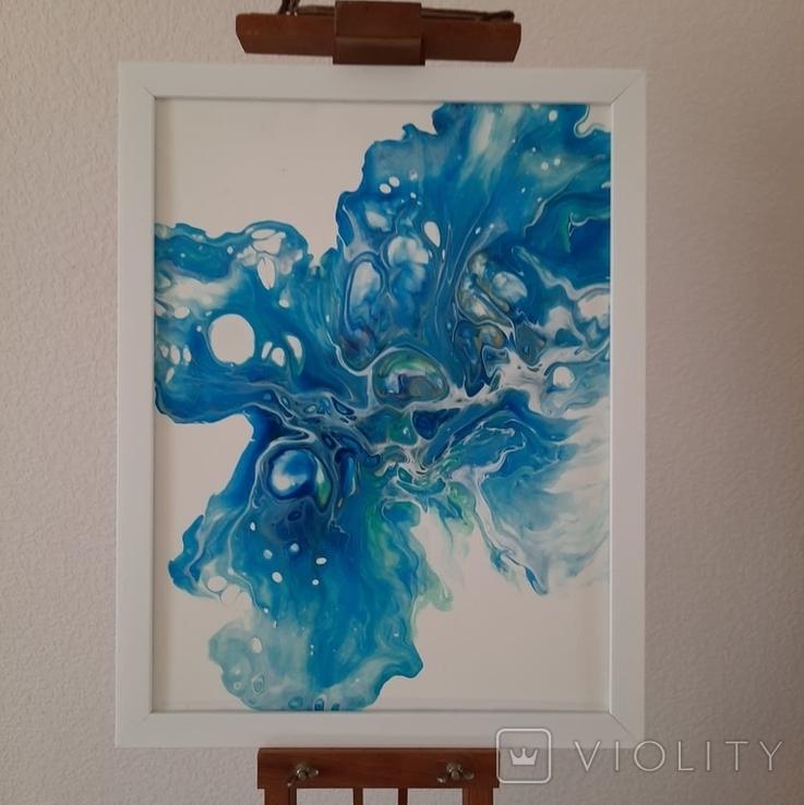 Картина/ живопис/ абстракція Fluid Art #12 acrylic, фото №5