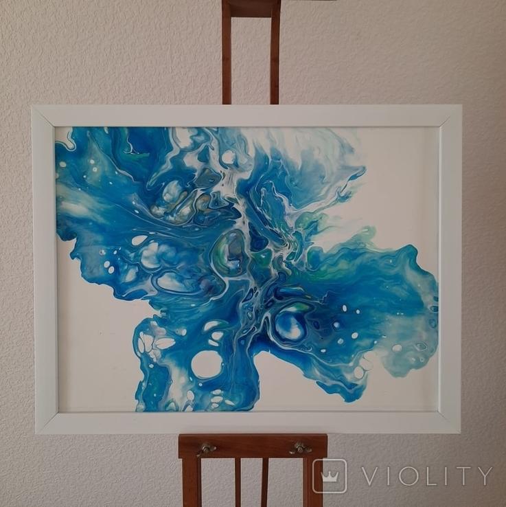 Картина/ живопис/ абстракція Fluid Art #12 acrylic, фото №6
