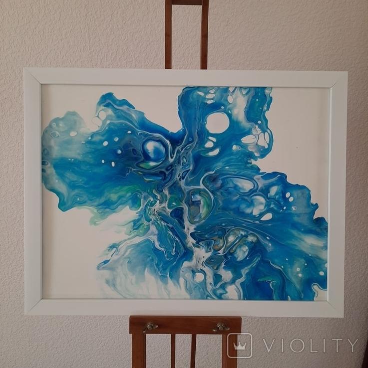 Картина/ живопис/ абстракція Fluid Art #12 acrylic, фото №7