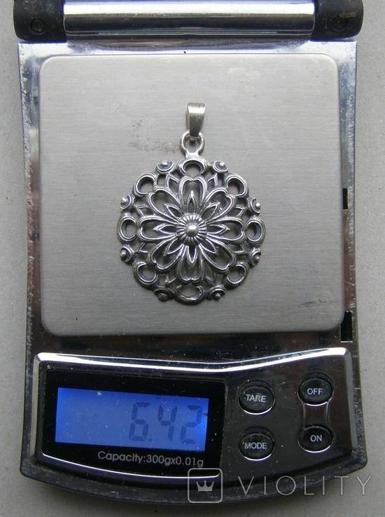 Кулон. Серебро. Вес - 6,42 г., фото №2