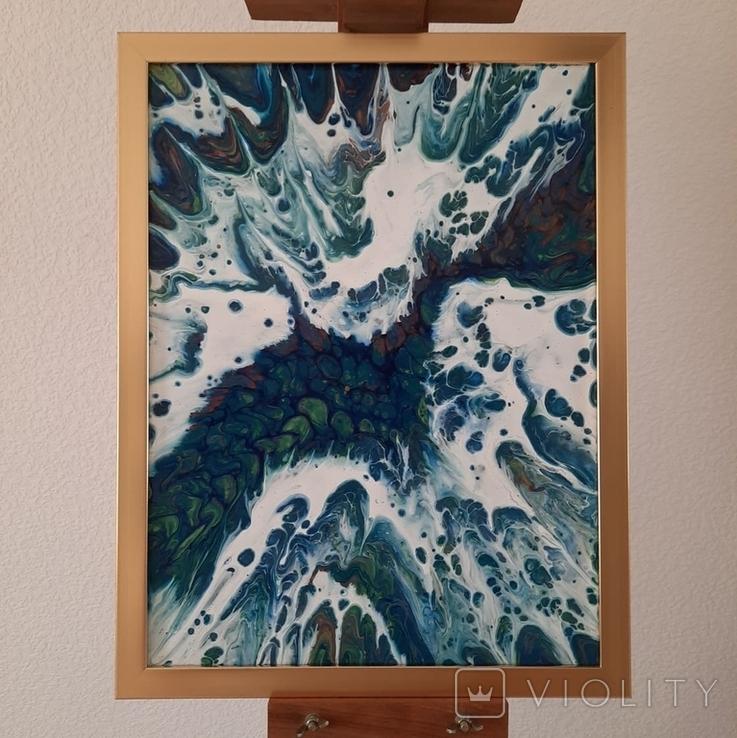Картина/ живопис/ абстракція Fluid Art #13 acrylic, фото №4