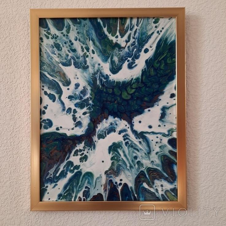 Картина/ живопис/ абстракція Fluid Art #13 acrylic, фото №10