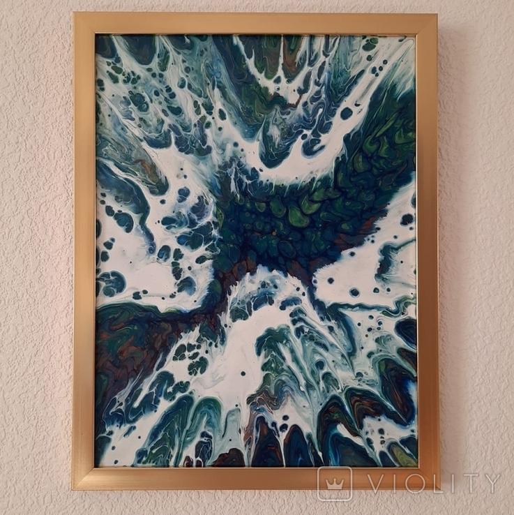 Картина/ живопис/ абстракція Fluid Art #13 acrylic, фото №12
