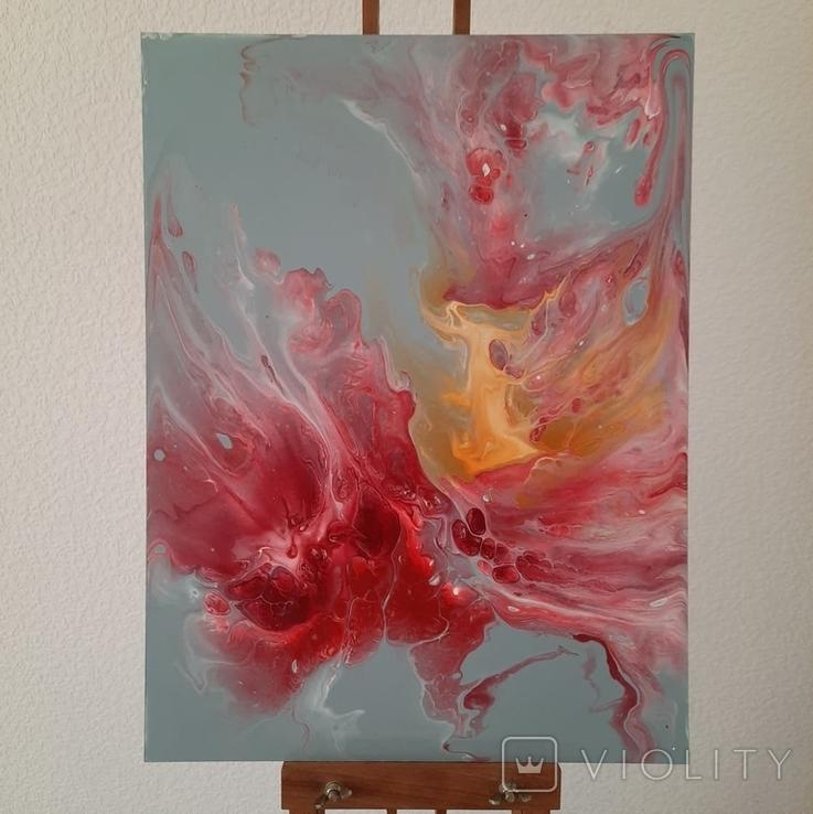Картина/ живопис/ абстракція Fluid Art #14 acrylic, фото №4