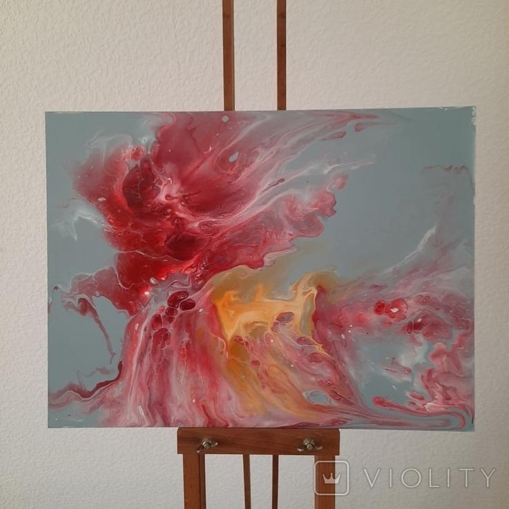 Картина/ живопис/ абстракція Fluid Art #14 acrylic, фото №5