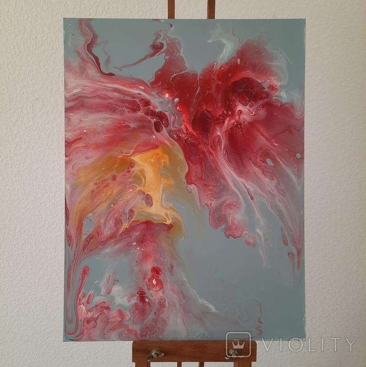 Картина/ живопис/ абстракція Fluid Art #14 acrylic, фото №6
