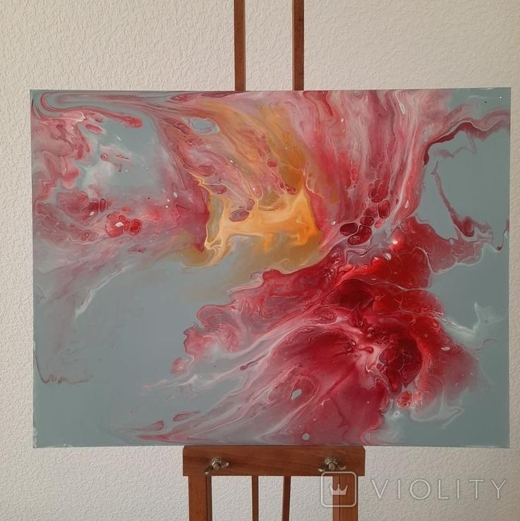 Картина/ живопис/ абстракція Fluid Art #14 acrylic, фото №7