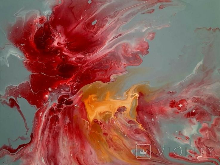 Картина/ живопис/ абстракція Fluid Art #14 acrylic, фото №9