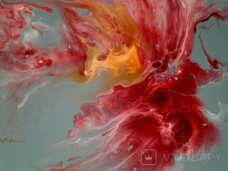 Картина/ живопис/ абстракція Fluid Art #14 acrylic, фото №11