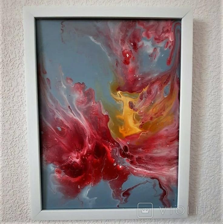 Картина/ живопис/ абстракція Fluid Art #14 acrylic, фото №12