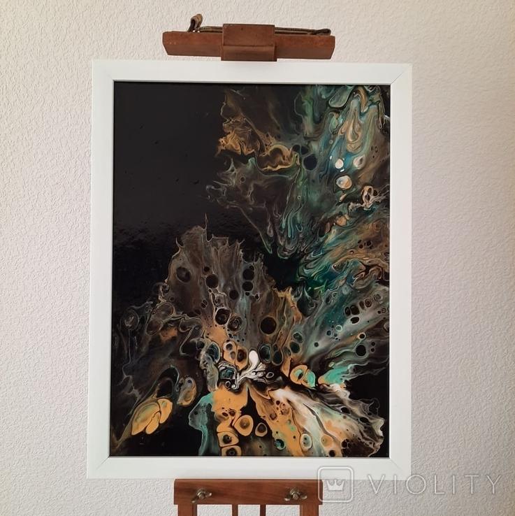 Картина/ живопис/ абстракція Fluid Art #15 acrylic, фото №2