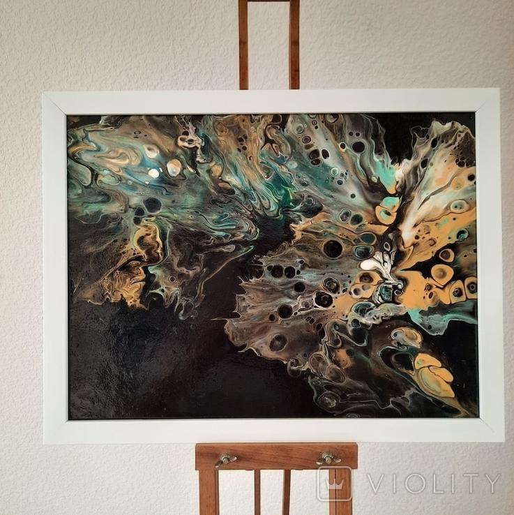 Картина/ живопис/ абстракція Fluid Art #15 acrylic, фото №3