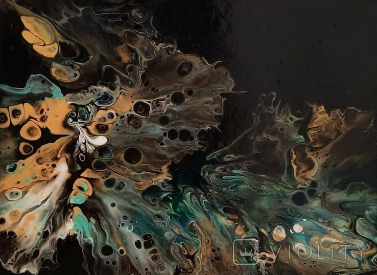 Картина/ живопис/ абстракція Fluid Art #15 acrylic, фото №8