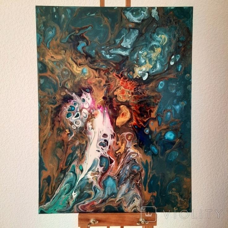 Картина/ живопис/ абстракція Fluid Art #16 acrylic, фото №2