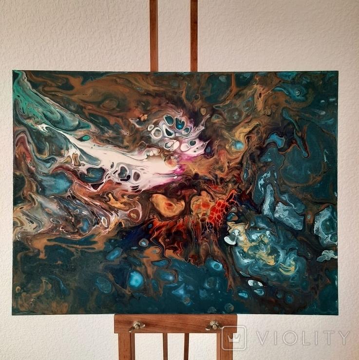 Картина/ живопис/ абстракція Fluid Art #16 acrylic, фото №5