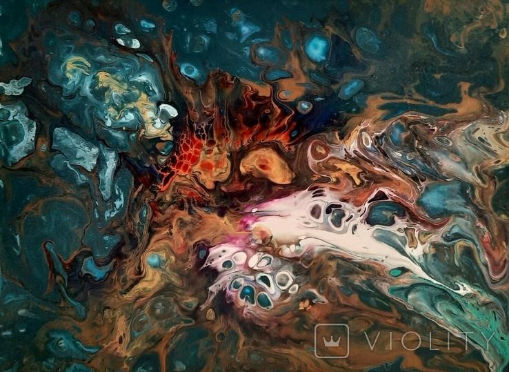 Картина/ живопис/ абстракція Fluid Art #16 acrylic, фото №10