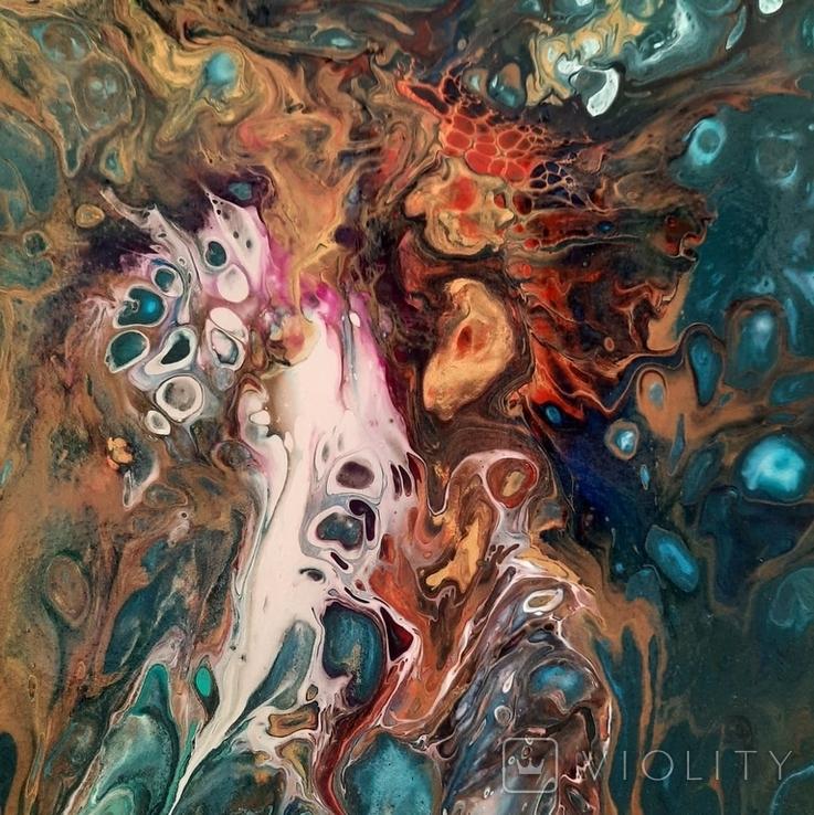 Картина/ живопис/ абстракція Fluid Art #16 acrylic, фото №11
