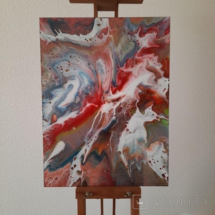 Картина/ живопис/ абстракція Fluid Art #17 acrylic, фото №4